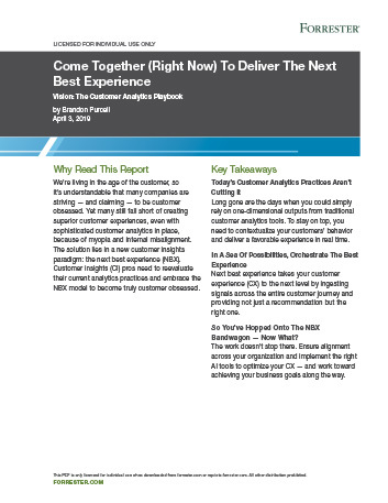 forrester-next-best-experience
